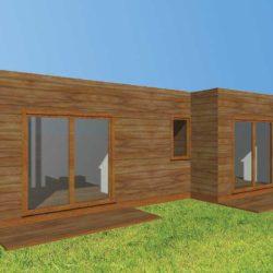 DOUBLE STUDIO – Double bungalow de type studio jumelé de 66 m²