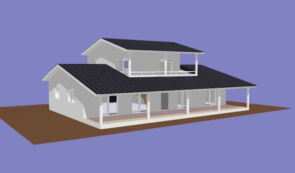 LETANE – Villa à ossature métallique de type F6 de 267 m²