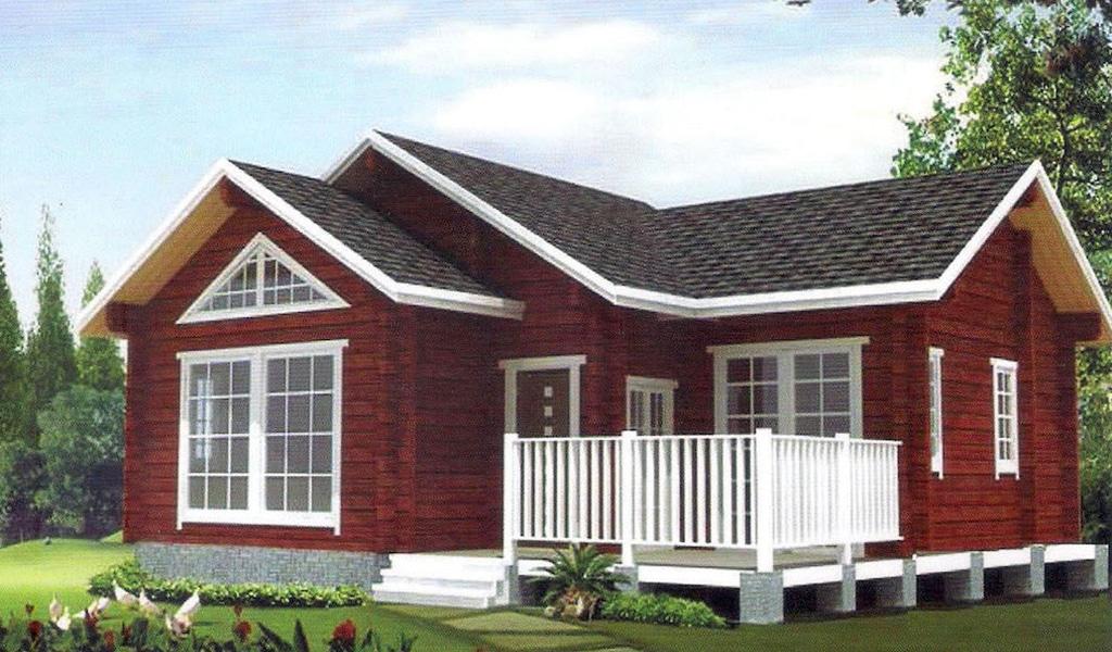 PHILIPPINE - Maison en bois avec madriers de type F3 de 55 m²