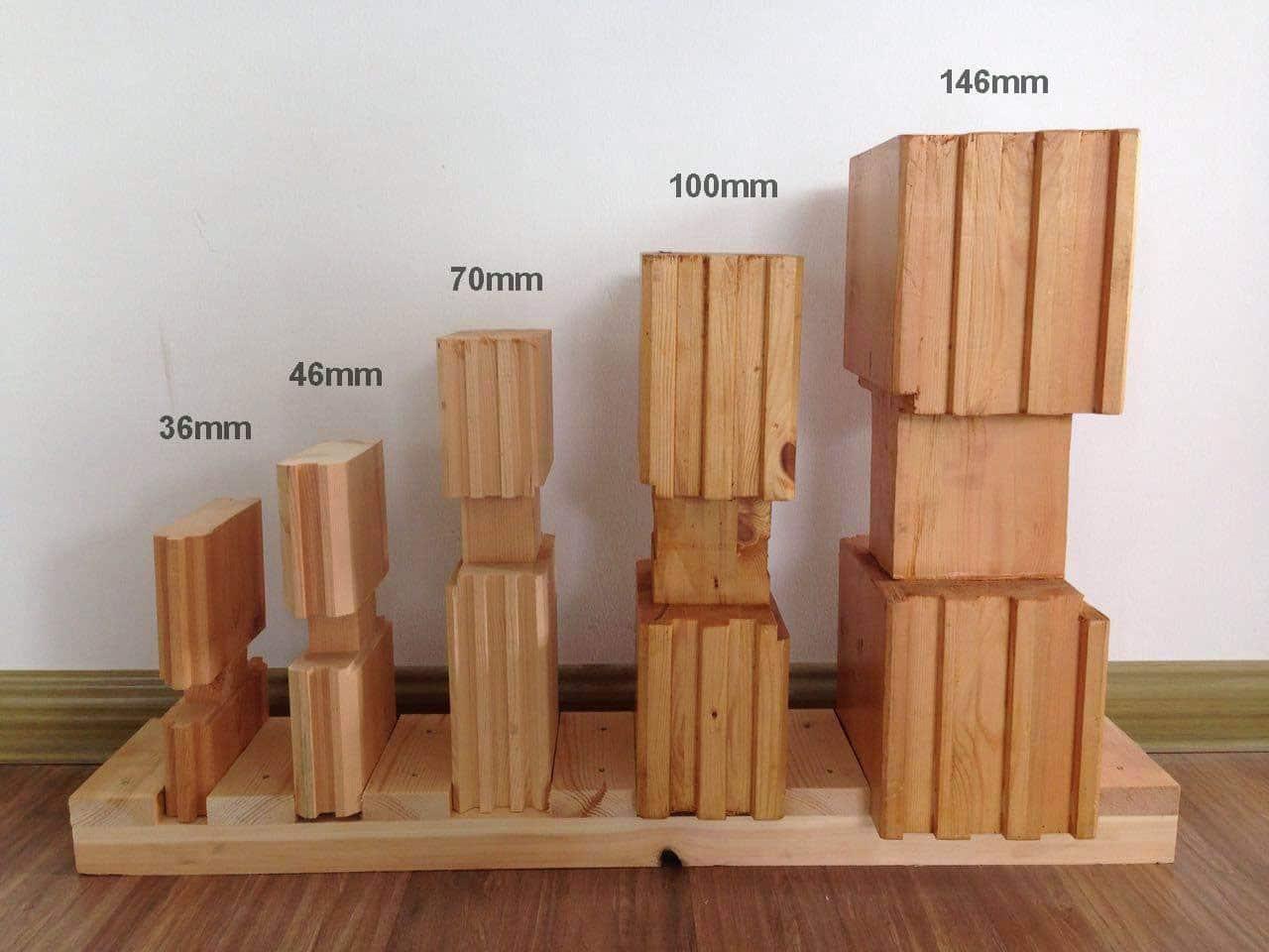Madriers Bois massif en Pin de Siberie utilisés pour les maisons en bois